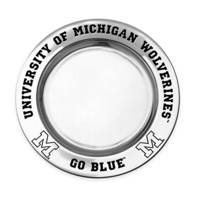 Wilton Armetale University of Michigan Small Round Tray