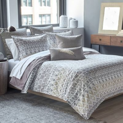 Parker Loft Taos Reversible Twin Duvet Cover Set in Taupe