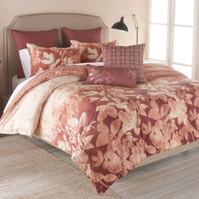 Parker Loft Westfield Reversible Full/Queen Duvet Cover Set in Burgundy