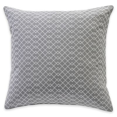 Parker Loft Taos Square Throw Pillow in Grey
