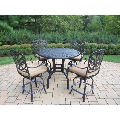 Oakland Living Clairmont 5-Piece Outdoor Counter Height Dining Set