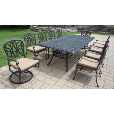Oakland Living Clairmont 11-Piece Outdoor Dining Set