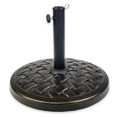 Oakland Living Edgewater Cast Concrete Umbrella Stand in Antique Black