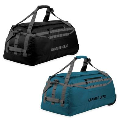 Granite Gear 30.5-Inch Packable Rolling Duffle Bag in Black