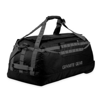 Granite Gear 30.5-Inch Packable Rolling Duffle Bag in Black