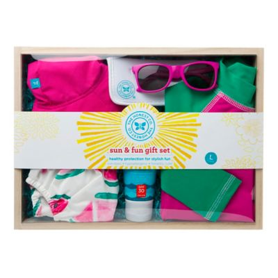 Honest Small Sun & Fun Gift Set in Pink/Green