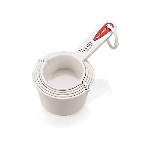 Betty Crocker 5-Piece Measuring Cup Set in White