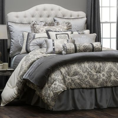 HiEnd Accents Kerrington Queen Duvet Cover in Grey