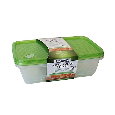 Buy click fresh 1 gallon food storage containers with for Bathroom containers with lids