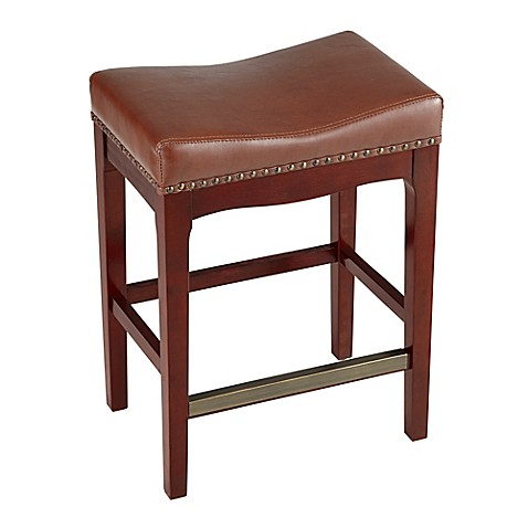 Buy Griffin 24 Inch Counter Stool In Cognac From Bed Bath
