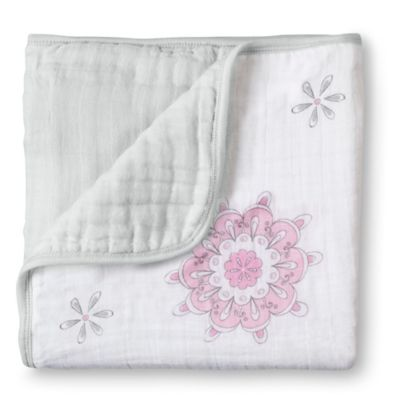 aden + anais® 100% Cotton Muslin For the Birds Dream Blanket in Pink