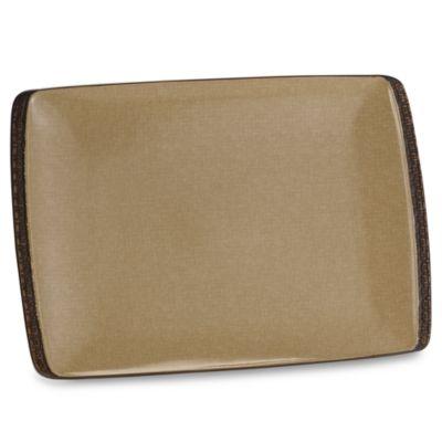Bali Mocha 11-Inch x 16-Inch Rectangular Platter