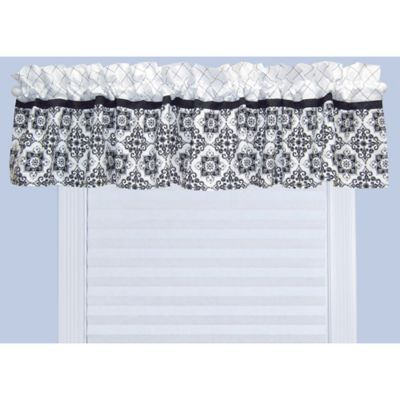 Trend Lab® Versailles Window Valance in Black/White