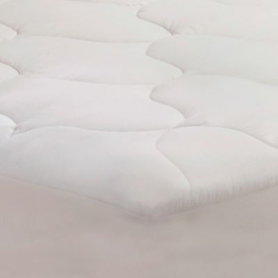 Bedding Essentials Twin Cotton Mattress Pad in White
