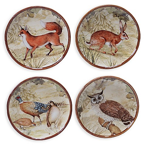 Buy certified international rustic nature 4 piece canap for What is a canape plate