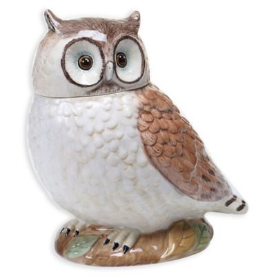 Certified International Rustic Nature 3-D Owl Cookie Jar