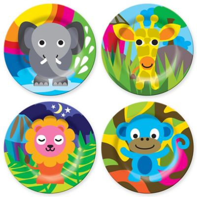 French Bull® Jungle Kids' 4-Piece Plate Set