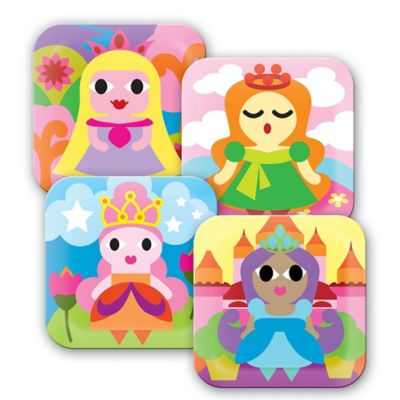French Bull Princess Kids' Plates in Multi (Set of 4)
