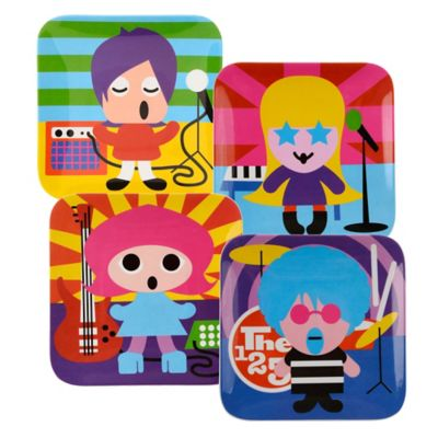 French Bull® Rock Star Kids' Plates (Set of 4)
