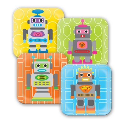 French Bull® Robot Kids' Plates (Set of 4)