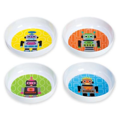 French Bull® Robot Kids' Bowls (Set of 4)