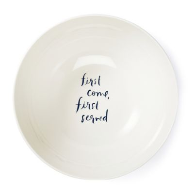 kate spade new york Salut! Serving Bowl in White/Navy