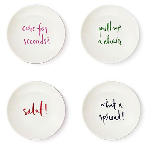 kate spade new york Salut! Tidbit Plate (Set of 4)