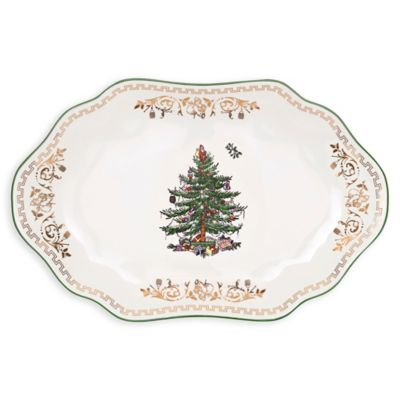 Spode® Christmas Tree Gold 13-Inch Oval Platter
