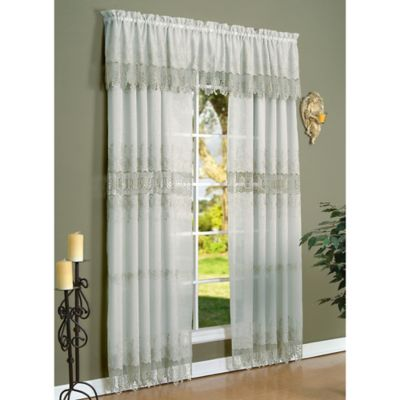 Commonwealth Home Fashions Anna Maria 84-Inch Window Curtain Panel in Mushroom