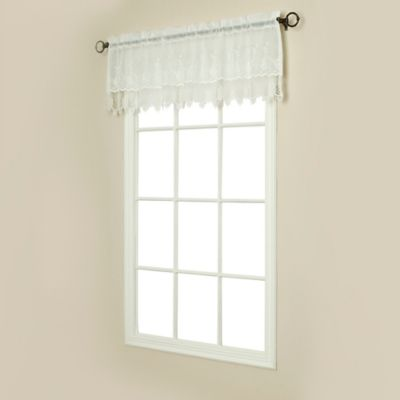 Commonwealth Home Fashions Anna Maria Valance in White