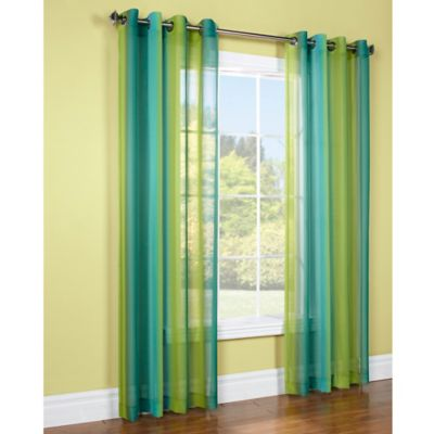 Commonwealth Home Fashions Rainbow 84-Inch Window Curtain Panel in Pink