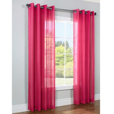 Commonwealth Home Fashions Zoe 84-Inch Window Curtain Panel in Fuschia