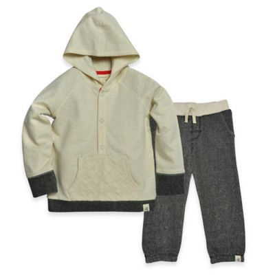 Burt's Bees Baby® Size 4T 2-Piece Organic Cotton Hoodie and Pant Set in Oatmeal