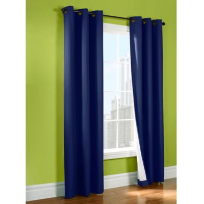 Sandy 63-Inch Insulated Room-Darkening Window Curtain Panel in Sports Blue