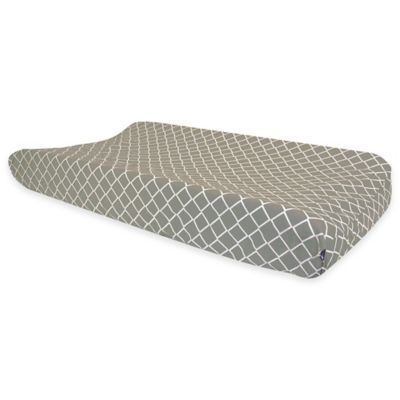 Trend Lab® Ombre Grey Diamonds Stripes Changing Pad Cover in Grey