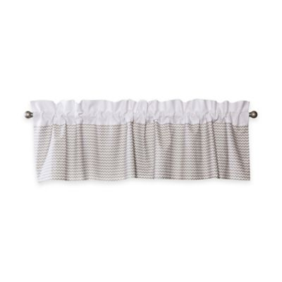 Trend Lab® Ombre Chevron Rod-Pocket Window Valance in Dove Grey