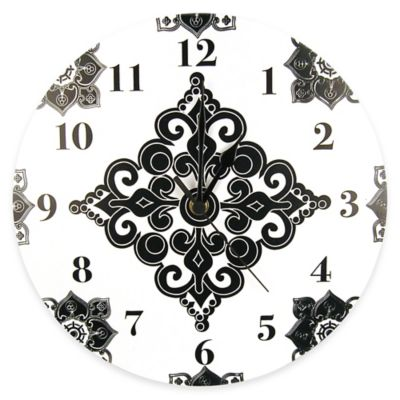 Trend Lab® Versailles Wall Clock in Black/White