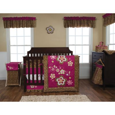 Trend Lab® Berry Leopard 3-Piece Crib Bedding Set