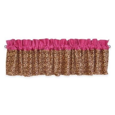Trend Lab® Berry Leopard Window Valance