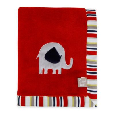 Trend Lab® Elephant Parade Coral Fleece Receiving Blanket
