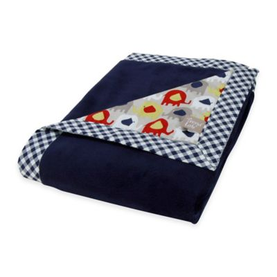 Trend Lab® Elephant Parade 2-Layer Receiving Blanket