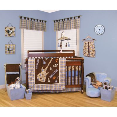 Blue and Orange Nursery Bedding