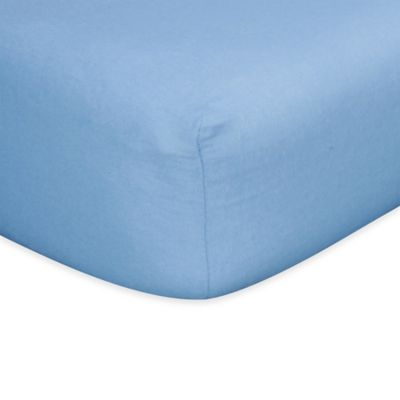 Trend Lab® Flannel Fitted Crib Sheet in Blue