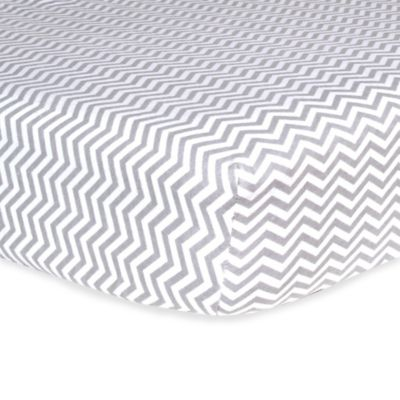 Trend Lab® Chevron Flannel Fitted Crib Sheet in Grey