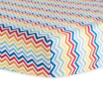 Trend Lab® Chevron Flannel Fitted Crib Sheet in Rainbow