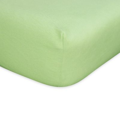 Trend Lab® Flannel Fitted Crib Sheet in Sage