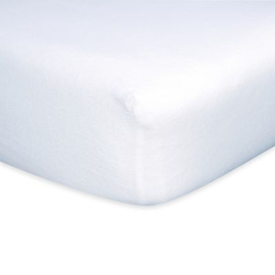 Trend Lab® Flannel Fitted Crib Sheet in White