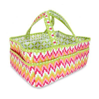 Trend Lab® Savannah Chevron Storage Caddy in Pink/Green
