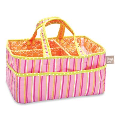 Trend Lab® Savannah Stripe Storage Caddy in Pink/Orange