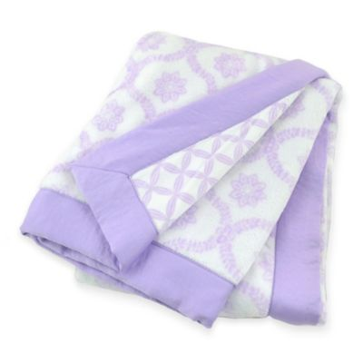 Just Born® Safe Sleep Trellis/Hampton Blanket in Lilac Shimmer